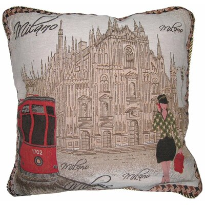 Postcard of Milan Woven Pillow Cover