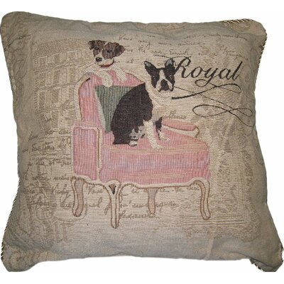 Royal Dog Polyester Cushion Cover
