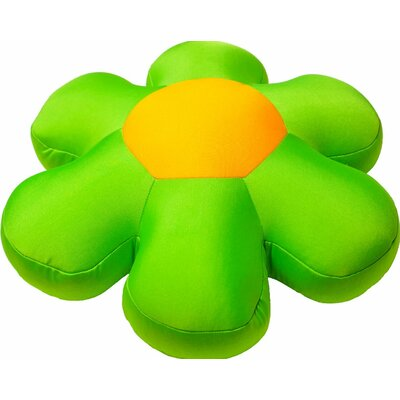 Decorative Flower Cushion Pillow Color: Green