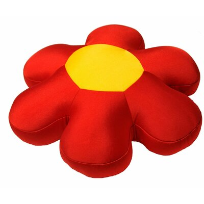 Decorative Flower Cushion Pillow Color: Red