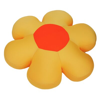 Decorative Flower Cushion Pillow Color: Yellow
