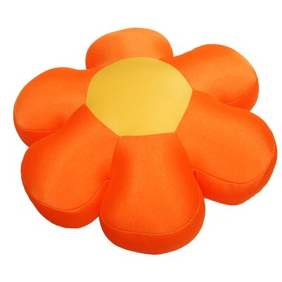Decorative Flower Cushion Pillow Color: Orange