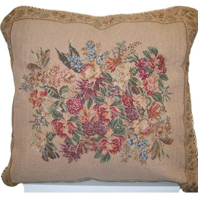 Wildflower Wonderland Cotton Throw Pillow