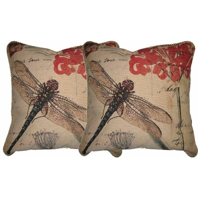 Dragonfly Dream Woven Pillow Cover