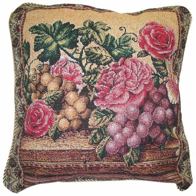 Parade of Fruit and Rose Woven Pillow Cover