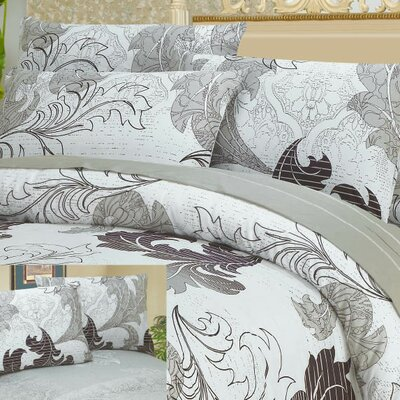 Real Leaves Duvet Cover Set Size: Twin