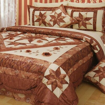 Diamond of Night Quilt Set Size: King