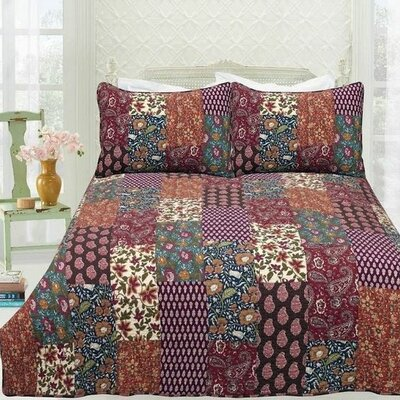 Julienne 3 Piece Quilt Set Size: Queen
