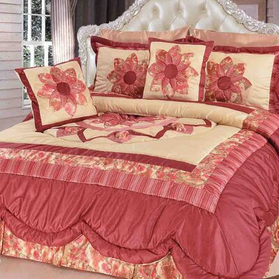 New Sunset Rubies Quilt Set Size: Queen