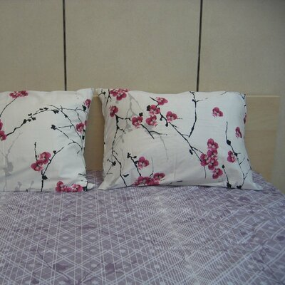 Floral 200 Thread Count Cotton Sheet Set Size: Full