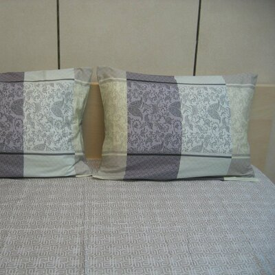 Paisley 200 Thread Count Cotton Flat Sheet Set Size: Queen