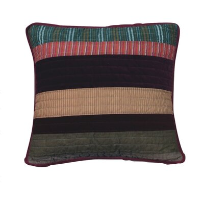 Classical Real Patchwork Striped Quilted Cotton Pillow Cover