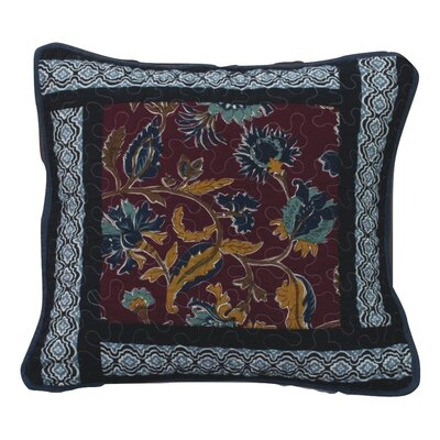 Bohemian Real Patchwork Floral Quilted Cotton Pillow Cover