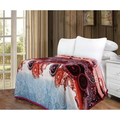 Farrah Flannel Fleece Toss Blanket Size: 66