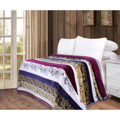 Saddler Flannel Fleece Toss Blanket Size: 50 W x 60 L
