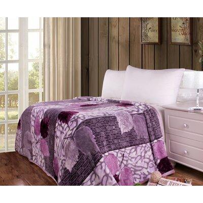 Ruggerio Flannel Fleece Toss Blanket Size: 50 W x 60 L