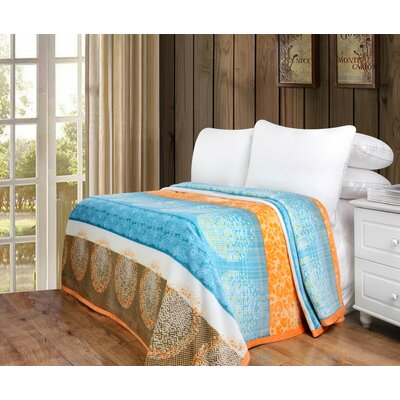 Kady Flannel Fleece Toss Blanket Size: 80 W x 90 L