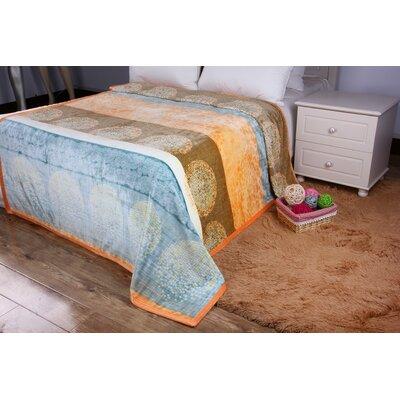 Kady Flannel Fleece Toss Blanket Size: 50 W x 60 L