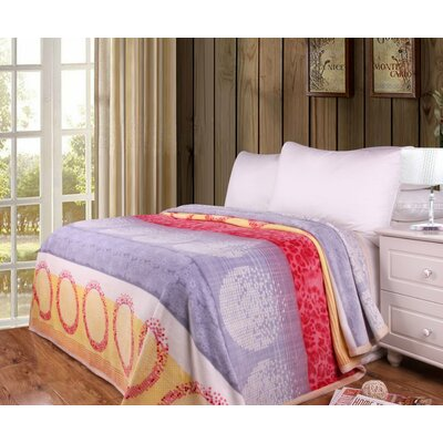 Kishmar Flannel Fleece Toss Blanket Size: 66 W x 90 L