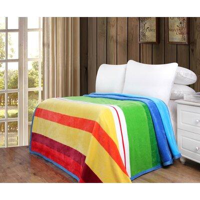 AJ Flannel Fleece Toss Blanket Size: 80 W x 90 L