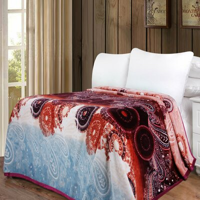 Paisley Dreams Reversible Bohemian Soft Warm Throw Blanket Size: 60 L x 50 W