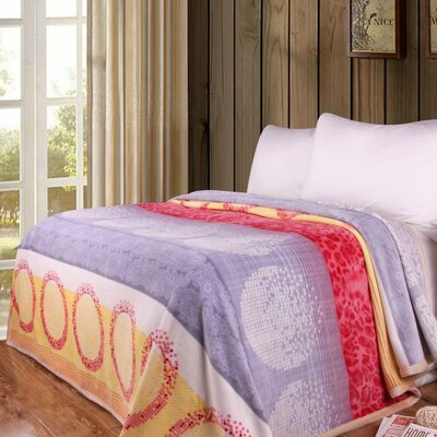 Seashore Sands Print Reversible Soft Warm Throw Blanket Size: 90
