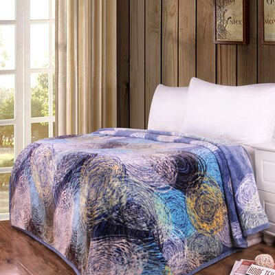 Swirly Painting Print Reversible Soft Warm Throw Blanket Size: 90 L x 80 W