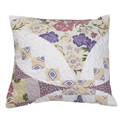 Wisteria Roses Quilted Cotton Pillow Cover