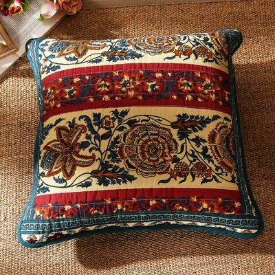Cotton Dark Elegance Floral 2 Piece Cushion Covers