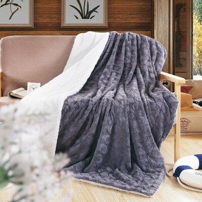 Reversible Fleece Throw Blanket Size: Queen