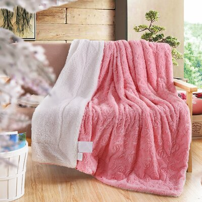 Reversible Fleece Throw Blanket Size: Twin