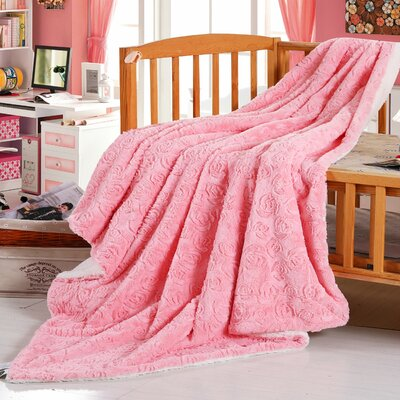 Reversible Fleece Throw Blanket Size: Queen