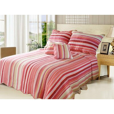 Stunning Stripe Quilt Set Size: Twin