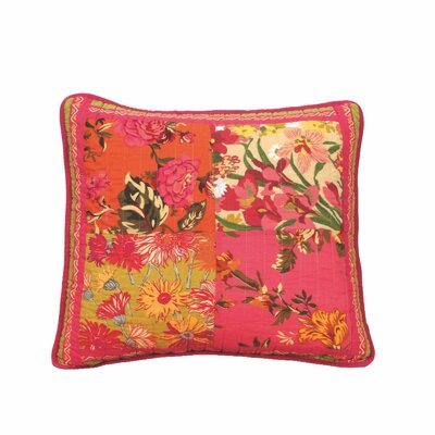 Bed of Roses Floral Patchwork Pillow Case