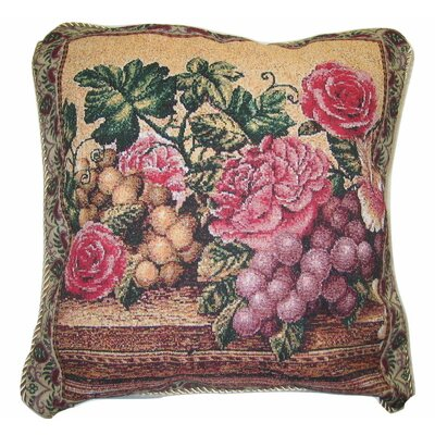 Parade of Fruit and Rose Cotton Cushion Cover