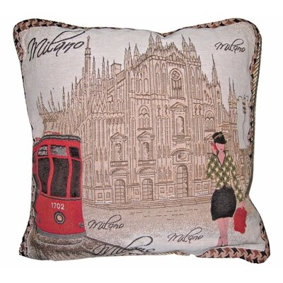 Postcard of Milan Woven  Cushion Cover