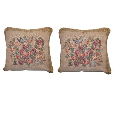 Wildflower Wonderland Floral Elegant Novelty Woven Throw Pillow