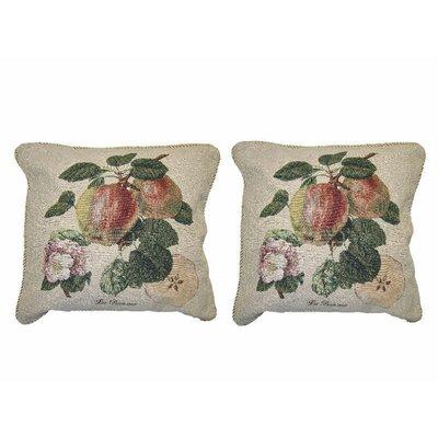 Splendor of Apples Fruit Elegant Novelty Woven Throw Pillow