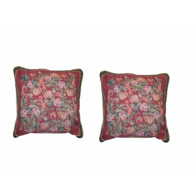 Romantic Field of Roses Floral Elegant Novelty Woven Throw Pillow