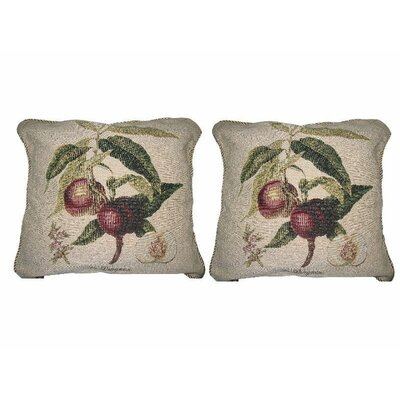 Nectarine Fruits Elegant Novelty Woven Throw Pillow