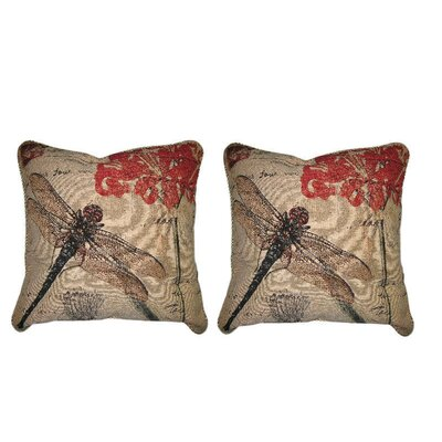 Dragonfly Dreams Insect Bug Elegant Novelty Woven Throw Pillow