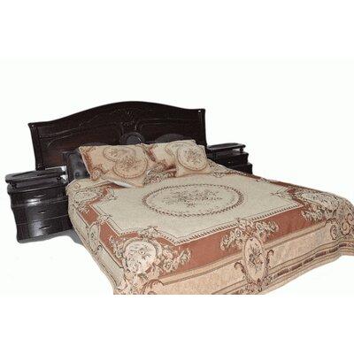 Elegant Chenille Quilt Set Size: Twin, Color: Orange/Brown