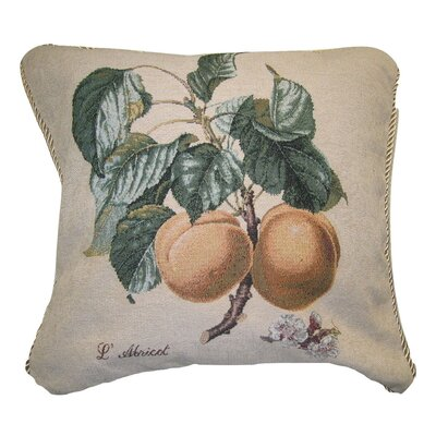 Apricot Fruit Elegant Novelty Woven Throw Pillow