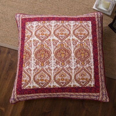 Althom Paisley Quilted Floral Print Pillow Cover
