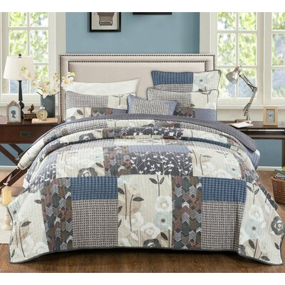 Cotton Reversible Quilt Set Size: Full