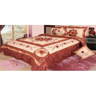 Allensville Glam Floral Comforter Set Size: Twin