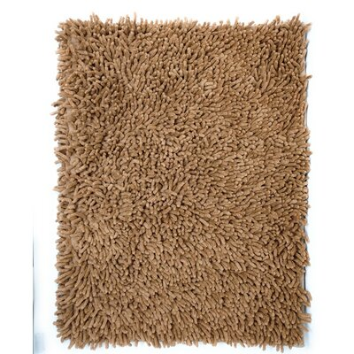 Cotton Chenille Rug Color: Camel, Size: 48 H x 31 W
