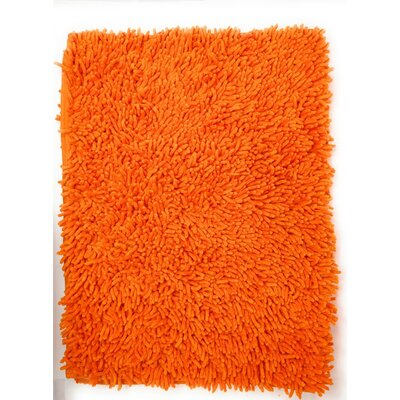 Cotton Chenille Rug Color: Orange, Size: 31 H x 96 W