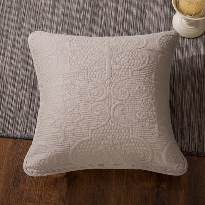 Galiana Elegant Embossed Textured Quilted Square 100% Cotton Pillow Cover