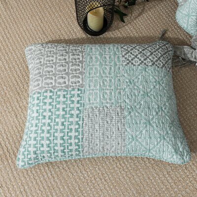 Angelina Geometric Textured Embossed Patchwork Quilted Euro Pillow